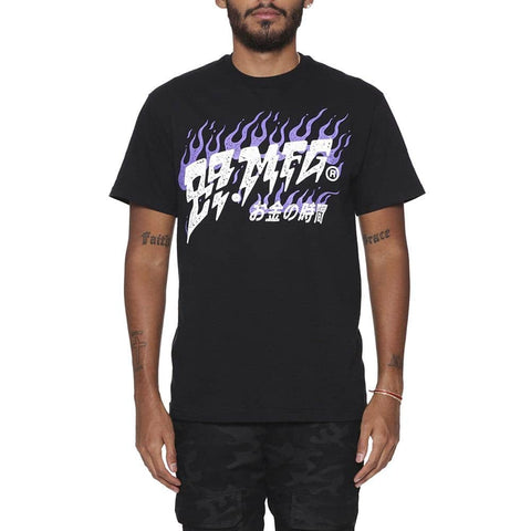 Flames T Shirt Court Purple