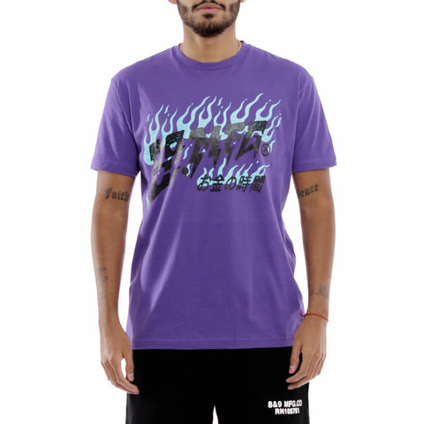 Flames T Shirt Grape