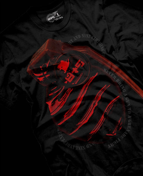Grenade Fight Metallic Red T Shirt - 1