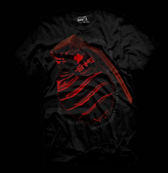 Grenade Fight Metallic Red T Shirt - 2