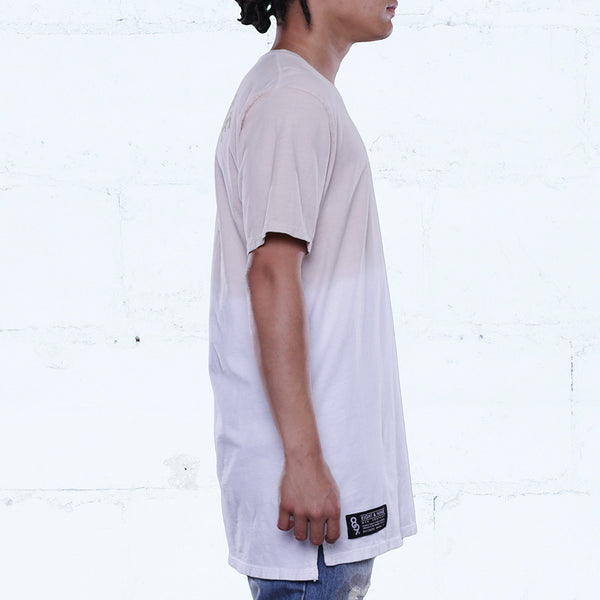 Gang burlap elongated dip dye t shirt side