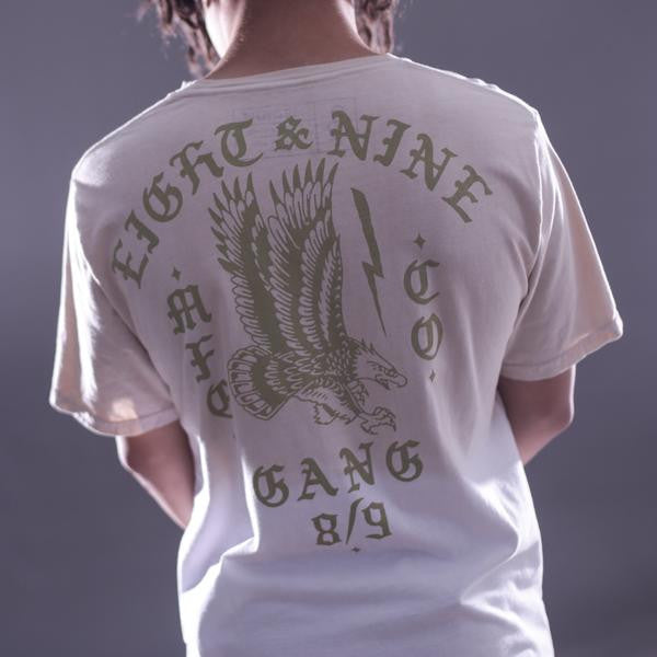 Gang Burlap Elongated Dip Dye T Shirt