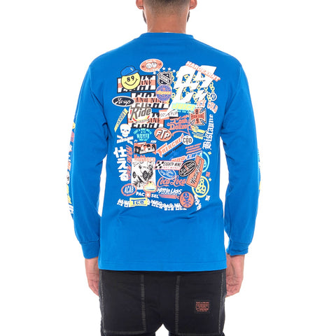 Garage Built 2.0 Long Sleeve Tee Blue