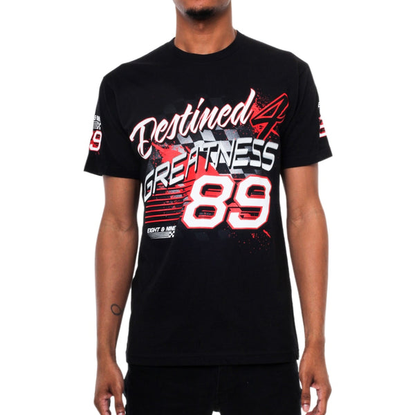 Greatness Racing T Shirt Black