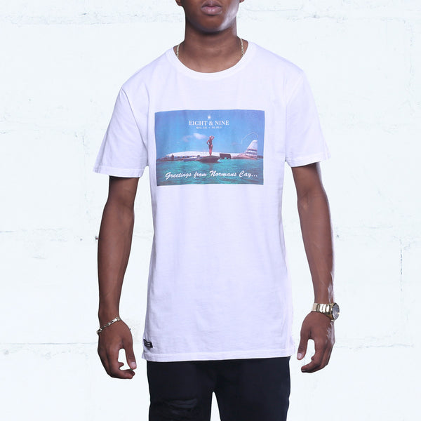 Greetings Long Line T Shirt White
