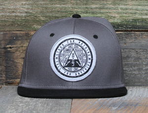 Question Authority Black Strapback Hat