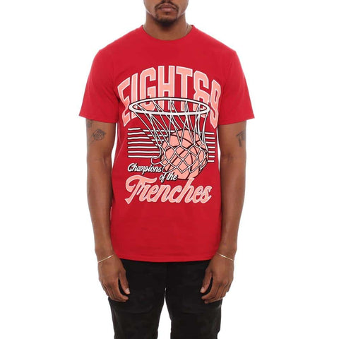 Hoops T Shirt Fire Red