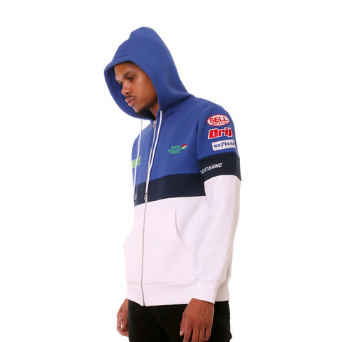 Hustle Racing F1 Pit Crew Zip Up Hoodie Royal
