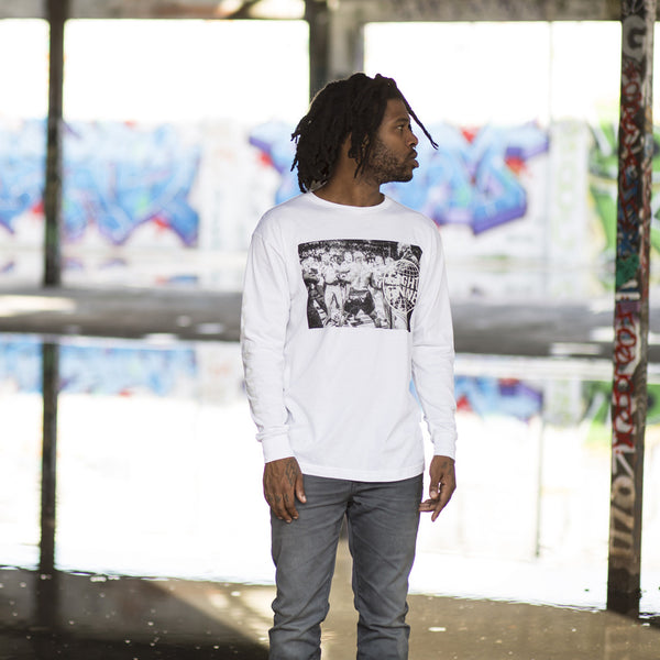 Get Down L/S Tee White