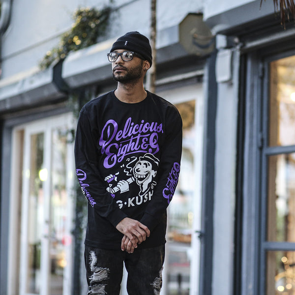 Delicious L/S T Shirt Purple