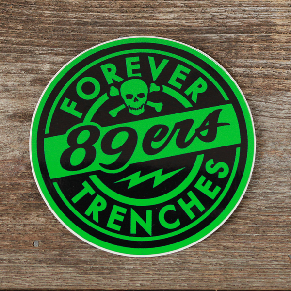 Forever Trenches Sticker Green
