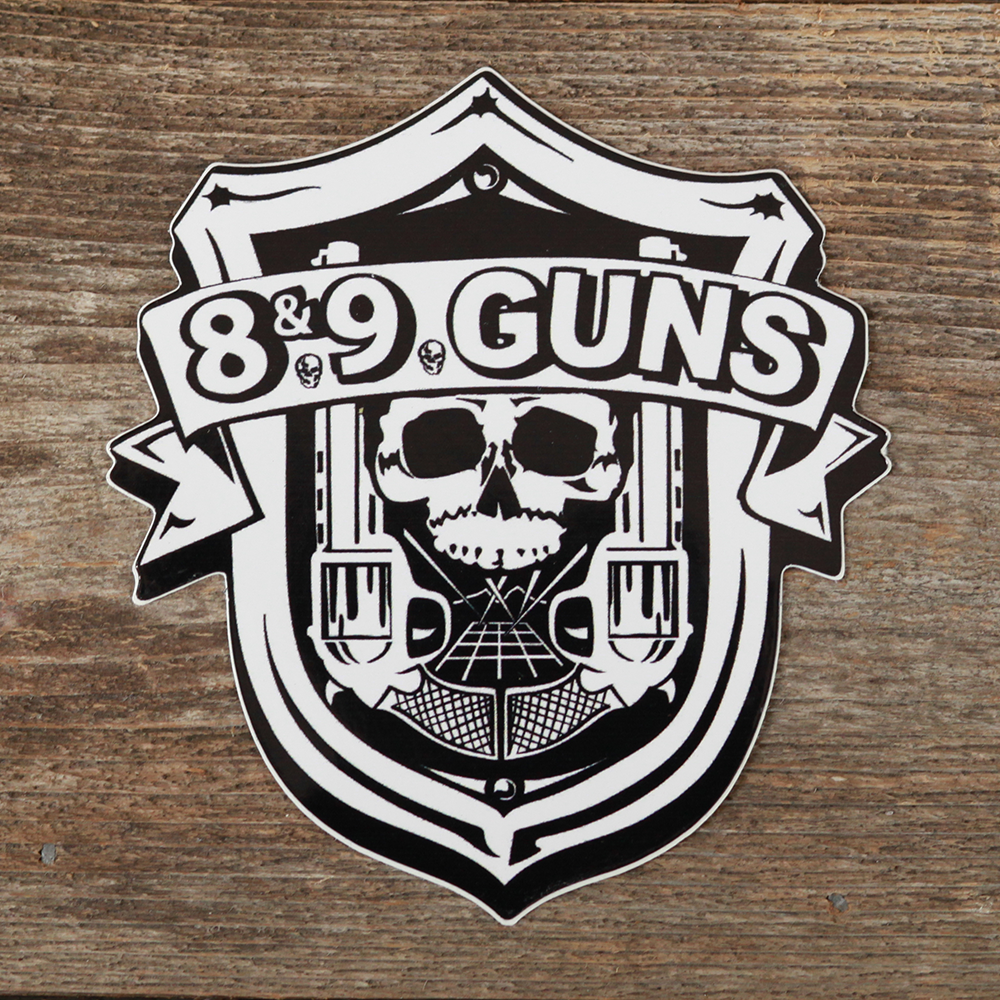 89 Guns White Sticker