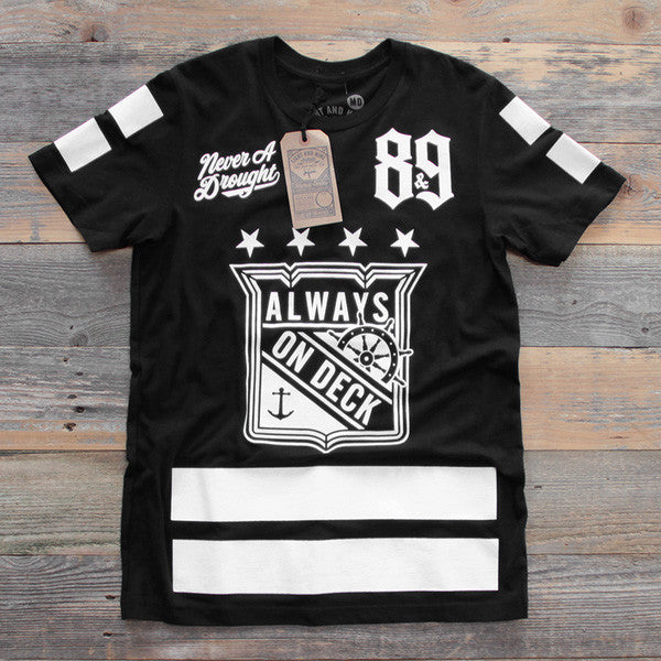 On Deck Hockey Jersey Tee Black - 1