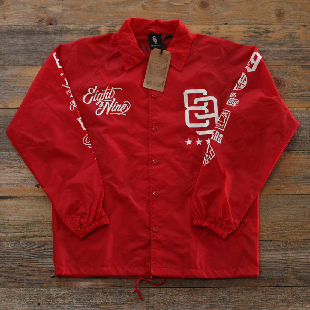 Rise Above Coaches Jacket Red - 1