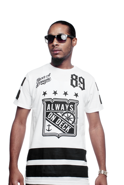 On Deck Hockey Jersey Tee White - 3
