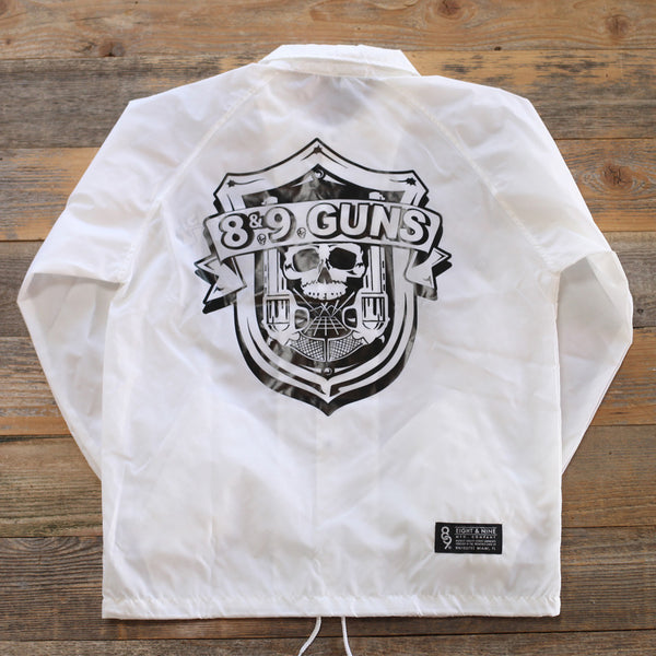 89 Guns Coaches Jacket White - 2