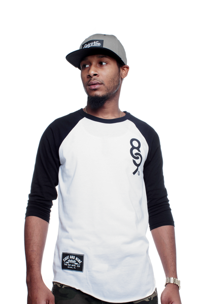 89 Keys 3/4 Sleeve Raglan Black - 2