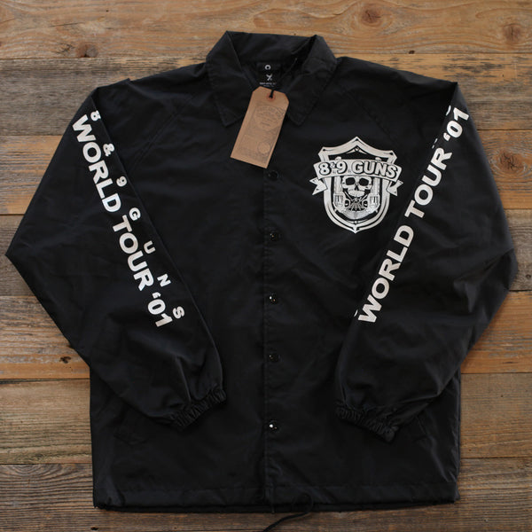 89 Guns Coaches Jacket Black