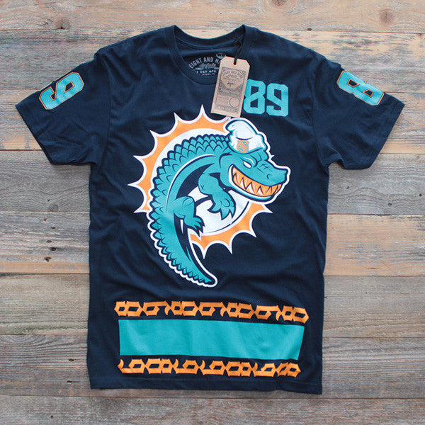 Miami FL Mash-Up Jersey Tee Navy - 1