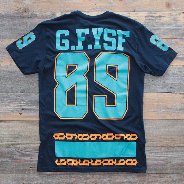 Miami FL Mash-Up Jersey Tee Navy - 2
