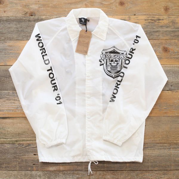 89 Guns Coaches Jacket White - 1