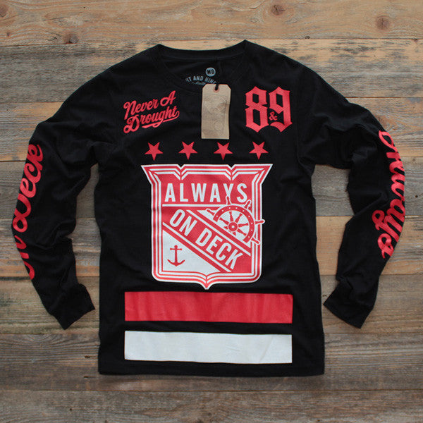 On Deck Jersey Tee Bred L/S - 1