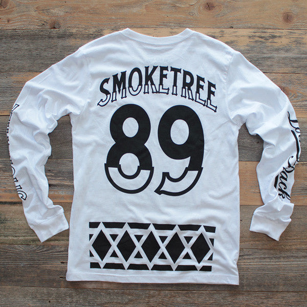 Smoke Tree Jersey Tee White L/S - 2