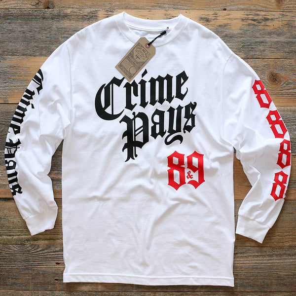 Crime Pays 2.0 Jersey Tee L/S Fire Red - 1