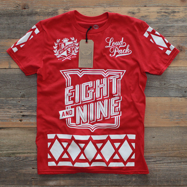 SmokeTree Hockey Jersey Tee Red - 1