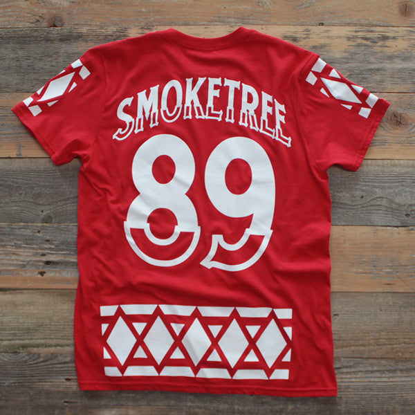 SmokeTree Hockey Jersey Tee Red - 2