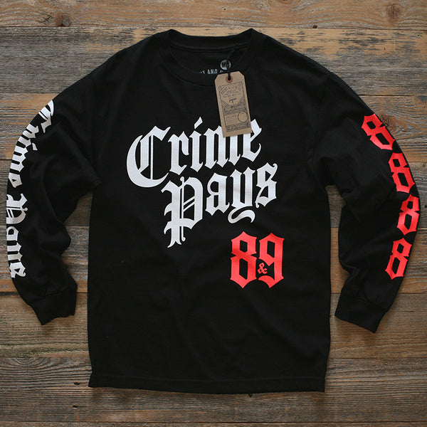 Crime Pays 2.0 Jersey Tee L/S Infrared - 1