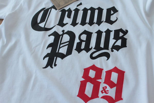 Crime Pays Fire Red Tee - 2