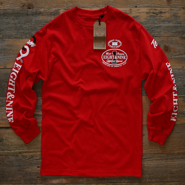 Offshore Imports L/S Tee Red