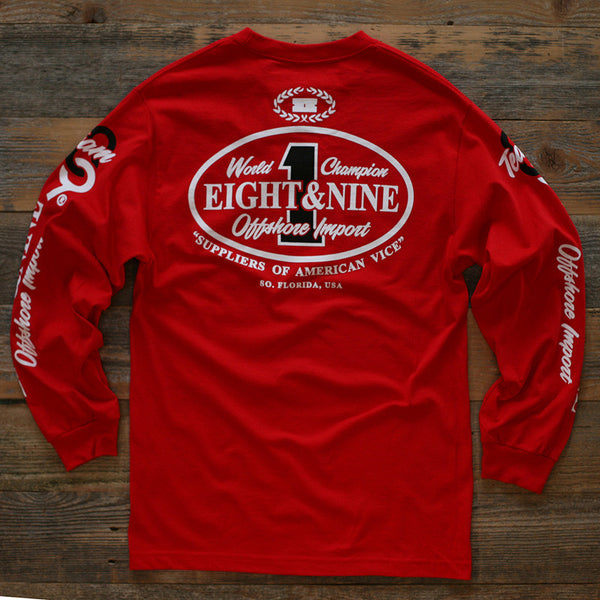 Offshore Imports L/S Tee Red - 2