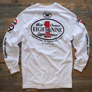 Offshore Imports L/S Tee White - 2