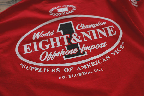 Offshore Imports L/S Tee Red - 4