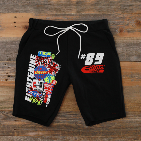 Garage Built Cut Off Terry Shorts Black