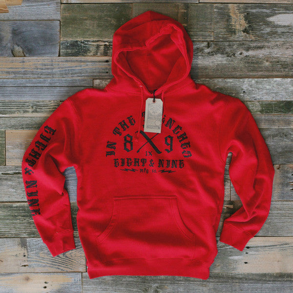 Trench Dweller Hooded Sweatshirt Red - 1