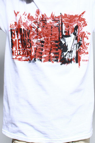 By Any Means Necessary Fire Red T Shirt - 2