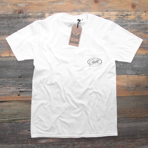 Motor Co Pocket Tee White