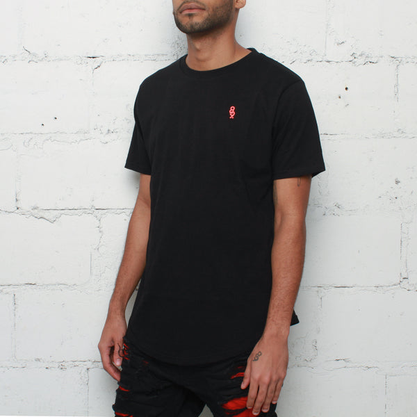Infrared Curved Hem T Shirt