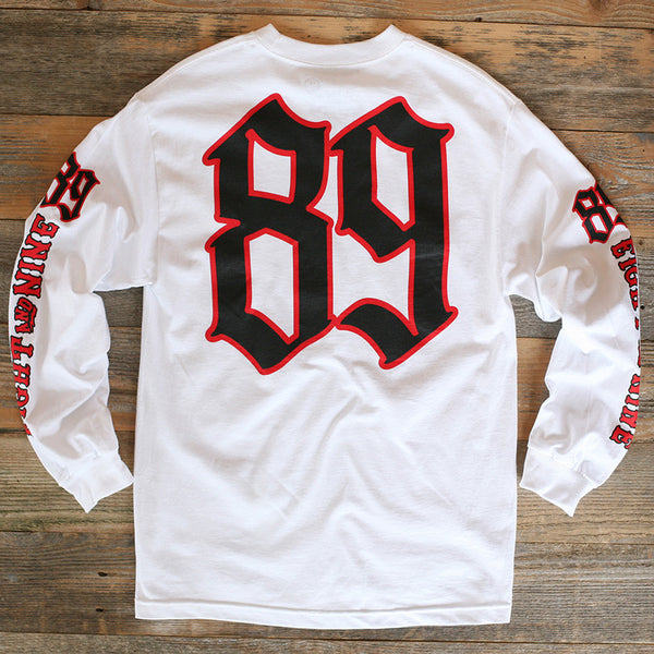 Race Flags Tee L/S White - 2