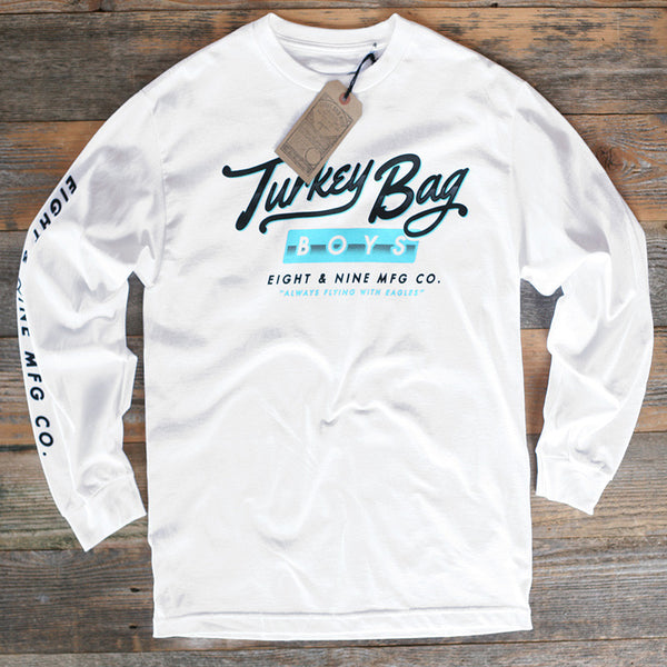 Turkey Bag Boys L/S Tee White