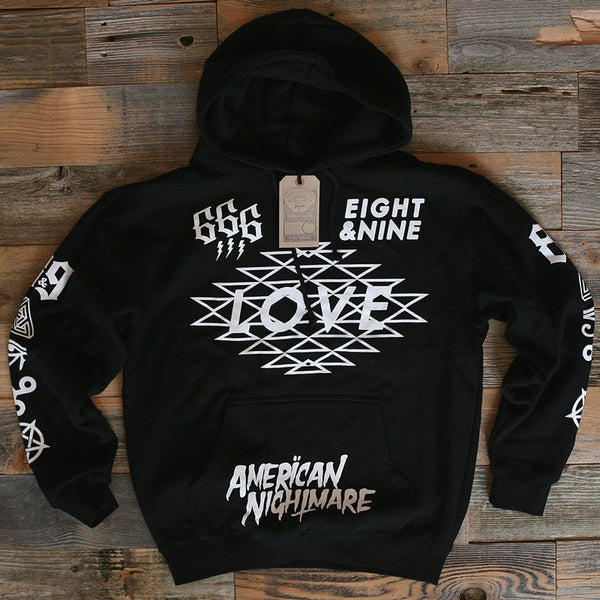 Love Hooded Sweatshirt Black