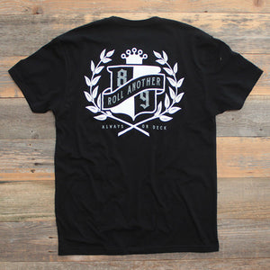 Roll Another Classic T Shirt Black - 2