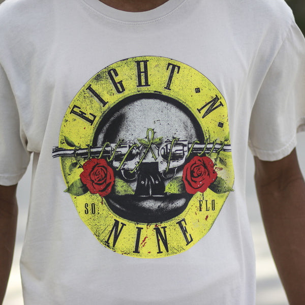 Guns N Trenches Spray Wash Tee Off White