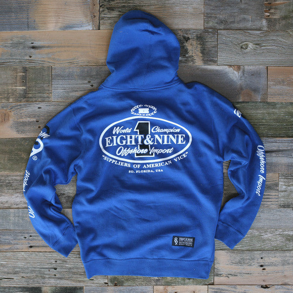 Offshore Imports Zip Up Hoody Sport Blue - 2