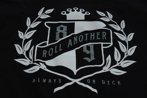 Roll Another Classic T Shirt Black - 4
