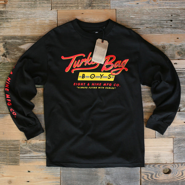Turkey Bag Boys L/S Tee Black