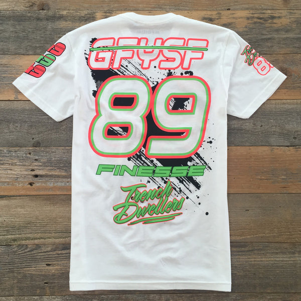Poison Green Finesse Team Jersey White - 2